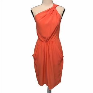 Rebecca Taylor | coral silk dress